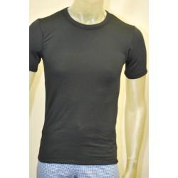 Camiseta felpa negra