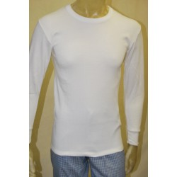 Camiseta felpa ML blanca