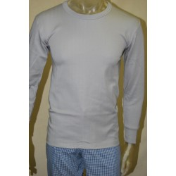 Camiseta felpa ML gris